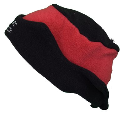 White Rock Black and Red Fleece Hat