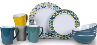 Kampa - Flora Heritage Dinner Set 2019