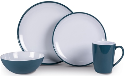 Kampa Dusk Blue Heritage Dinner Set   - Click to view a larger image