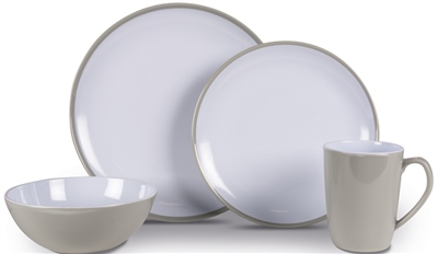 Kampa Seraph Grey Heritage Dinner Set   - Click to view a larger image