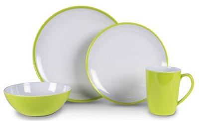 Kampa - Citrus Green Summer Dinner Set 2019