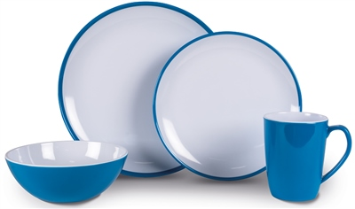 Kampa Dometic Vivid Blue Summer Dinner Set 2019  - Click to view a larger image