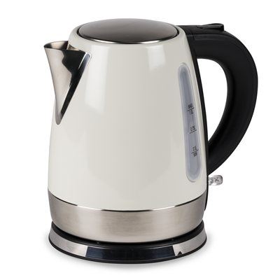 Kampa Stainless Steel Cream Electric Kettle 2018  - Click to view a larger image