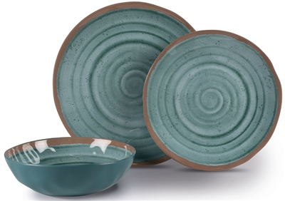 Kampa Terracotta Dinner Set  - Click to view a larger image
