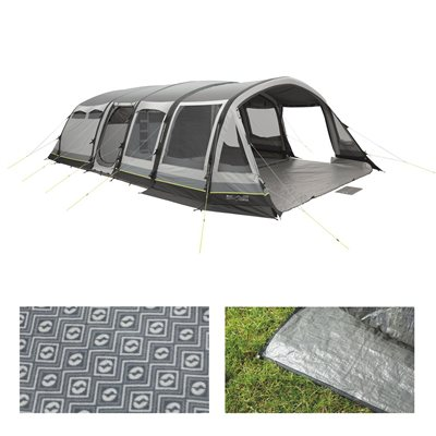 Review this product.  sc 1 st  C&ing World & Review Outwell Greycliff 7SATC Air Tent Package Deal 2018 ...