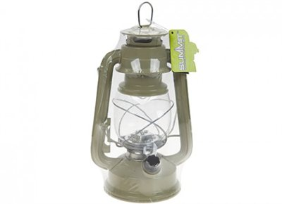 Summit Green LED Hurricane Lantern 2018  - Click to view a larger image