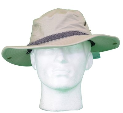 White Rock - Classic Outback Hat with Suede Band Stone
