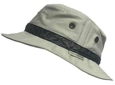 White Rock Oasis Design Band Hat GREY  - Click to view a larger image