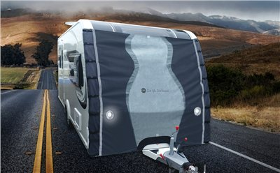 Crusader Caravan Towing Protection Front Cover Pro  - Click to view a larger image
