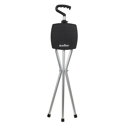 Summit Folding Walking Stick Stool with Seat 2018  - Click to view a larger image