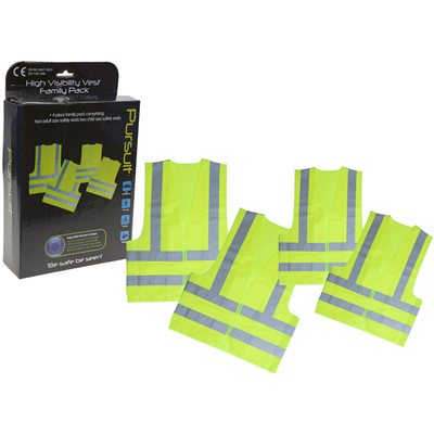 Summit High Visibility Safety Vests - Family Pack 2018  - Click to view a larger image