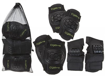 Summit Knee, Elbow Pads & Wrist Guards 6pc Set 2018  - Click to view a larger image