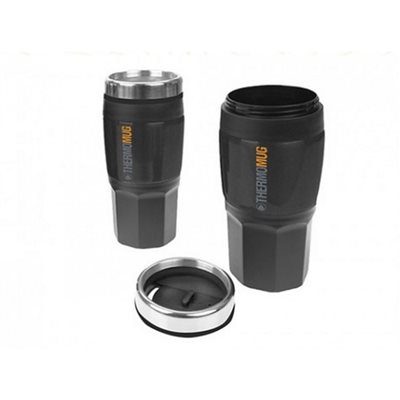 Summit 400ML Insulated Flask Black Rubber Finish  - Click to view a larger image