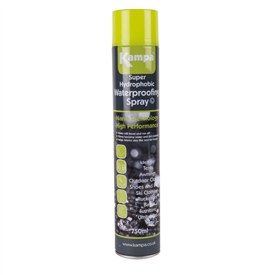 Kampa Super Hydrophobic Waterproofing Spray with Sunscreen  - Click to view a larger image