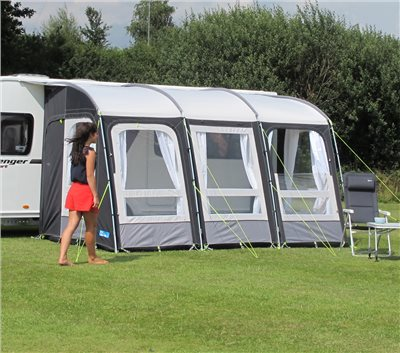Kampa Rally Pro 390 (poled) Caravan Awning 2019   - Click to view a larger image