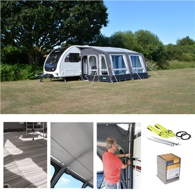 Kampa - Grande Air All Season 390 Caravan Awning Package Deal 2020
