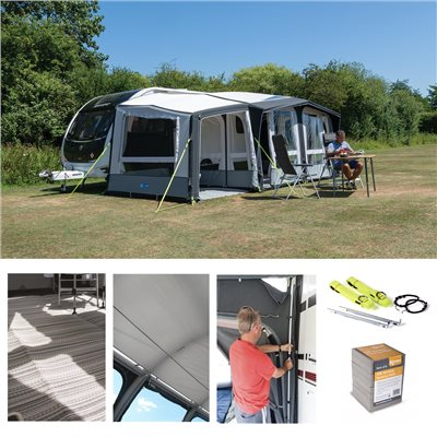 Kampa Club Air PRO 390 PlUS Caravan Awning Package Deal 2019 LEFT  - Click to view a larger image