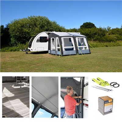 Kampa Grande AIR Pro 330 Caravan Awning Package Deal 2019   - Click to view a larger image