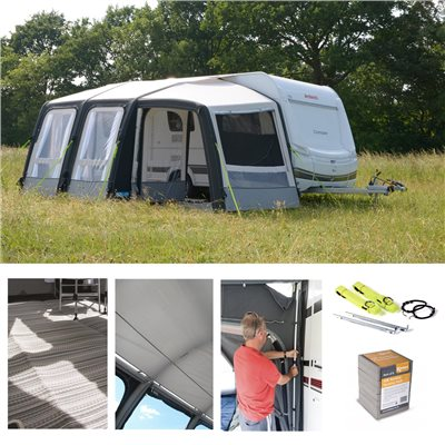 Kampa Dometic Rally AIR Pro 260 PLUS Caravan Awning Package Deal 2019 RIGHT  - Click to view a larger image
