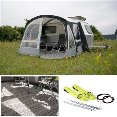 Kampa Pop AIR Pro 290 Caravan Awning Package Deal 2020  - Click to view a larger image