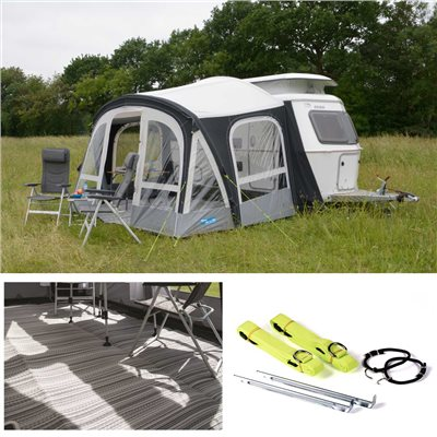 Kampa Pop Pro Air 340 Caravan Awning Package Deal 2020  - Click to view a larger image