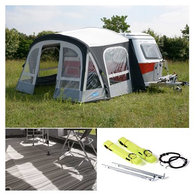 Kampa Pop Pro Air 365 Caravan Awning Package Deal 2019  - Click to view a larger image