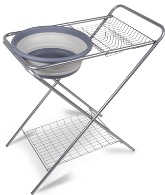 Kampa Washing Up Stand with Collapsible Bowl  - Click to view a larger image