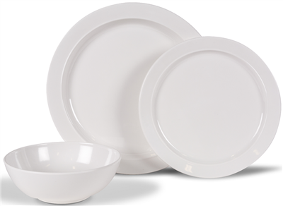Kampa Dometic Classic White Dinner Set 2019  - Click to view a larger image