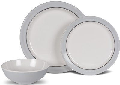 Kampa Classic Grey Dinner Set  - Click to view a larger image