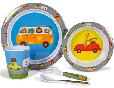 Kampa Dometic Animal Traffic Childrens Dinner Set 2019  - Click to view a larger image