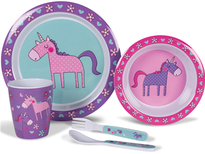 Kampa Unicorns Children's Dinner Set   - Click to view a larger image