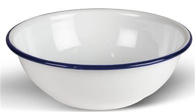 Kampa Enamel Bowl White   - Click to view a larger image