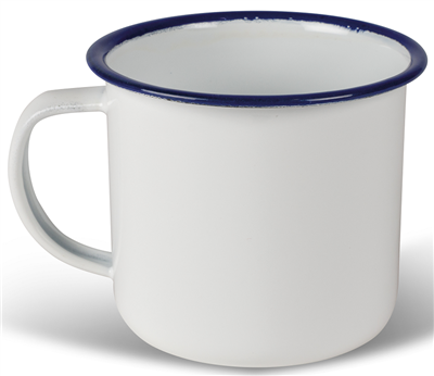 Kampa Enamel Mug White   - Click to view a larger image