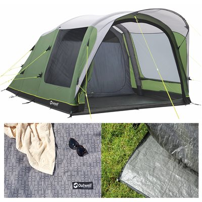 Outwell Cedarville 3A Air Tent Package Deal 2019  - Click to view a larger image
