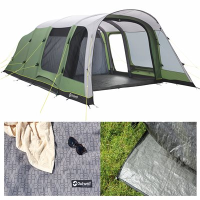 Outwell Broadlands 6A Air Tent Package Deal 2019  - Click to view a larger image