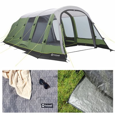 Outwell Woodburg 6A Air Tent Package deal 2019  - Click to view a larger image