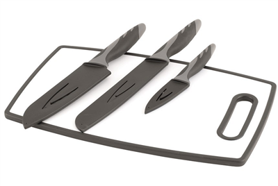 Outwell Caldas Knife Set with Cutting Board   - Click to view a larger image