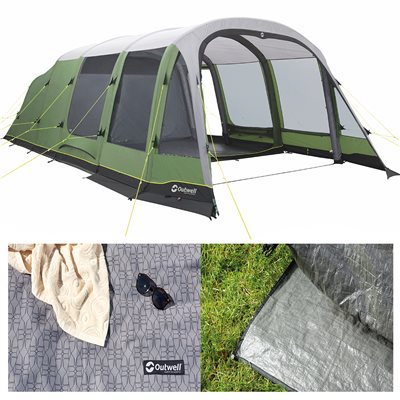 Outwell Woodburg 7A Air Tent Package Deal 2019  - Click to view a larger image