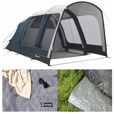 Outwell Rock Lake 3ATC Air Tent Package Deal 2019  - Click to view a larger image