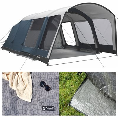 Outwell Rock Lake 5ATC Air Tent Package Deal 2019  - Click to view a larger image