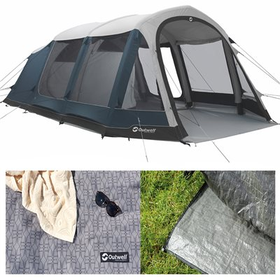 Outwell Stone Lake 5ATC Air Tent Package Deal 2019  - Click to view a larger image