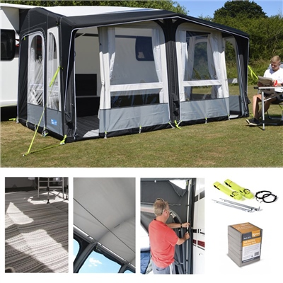 Kampa Dometic Club Air PRO 390 Awning Package Deal 2019   - Click to view a larger image