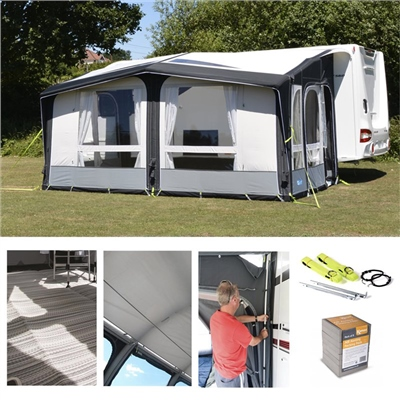 Kampa Club Air PRO 450 Awning Package Deal 2019   - Click to view a larger image