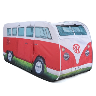 VW Camper Van Kids Pop Up Play Tent - Red