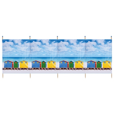 Yello Beach Hut Windbreak  - Click to view a larger image