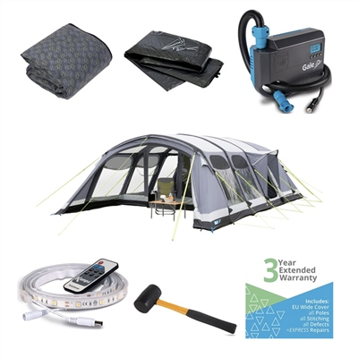 Kampa - Studland 8 Air Pro Ultimate Tent Package