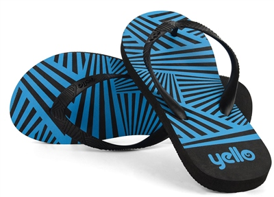 Yello Zig Zag Mens Flip Flops   - Click to view a larger image