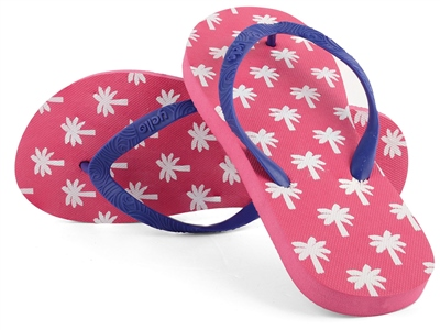Yello Palm Tree Flip Flops   - Click to view a larger image