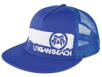 Urban Beach Blue Trucker Peak Cap   - Click to view a larger image