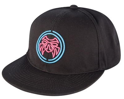 Urban Beach Black Flat Peak Snap Back  - Click to view a larger image